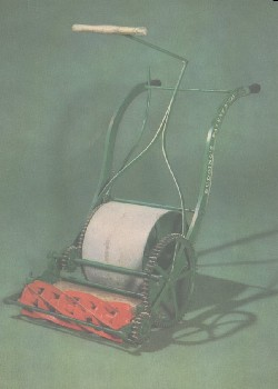 Budding's patent lawnmower, 1830, as seen in the Science Museum, London